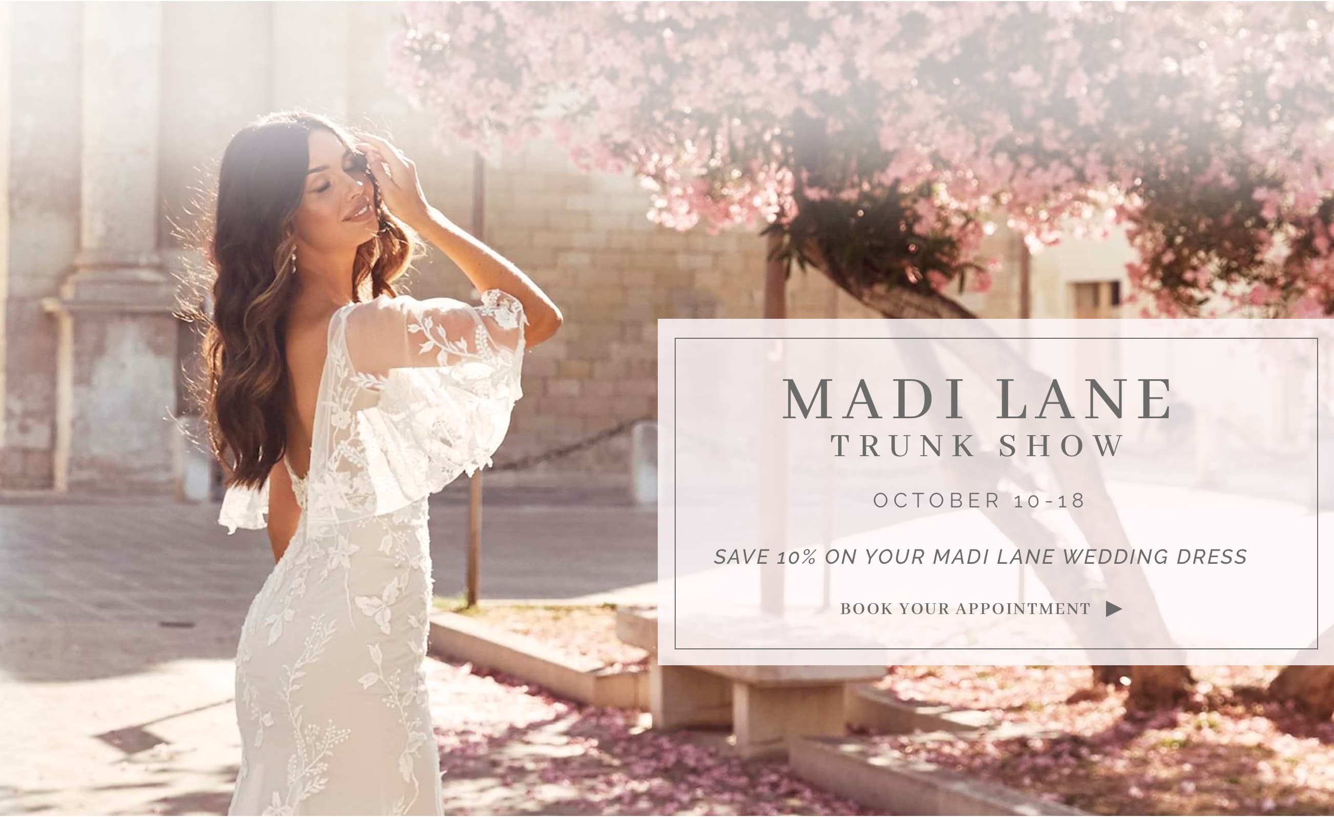 Madi Lane Trunk Show October 10-18. Desktop Image
